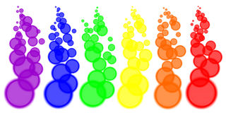Color blurred circles. Isolated abstract color blurred circles on the line Royalty Free Stock Photography