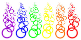 Color blurred circles. Isolated abstract color blurred circles on the line Royalty Free Stock Image