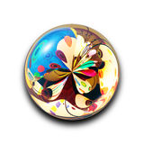 Isolated abstract colorful glass ball with beautiful reflection with clipping path, christmas decoration Stock Images
