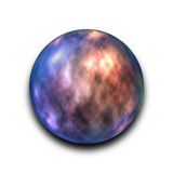 Isolated abstract nebula and galaxy in the glass ball on white background with clipping path Stock Photography