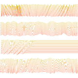 Isolated abstract pink color wavy stripes bacground. Unusual draped textile surface. Curvy horizontal backdrop pattern. Stock Images