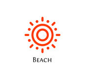 Isolated abstract round shape orange color logo, sun logotype, aim vector illustration.  Royalty Free Stock Photography