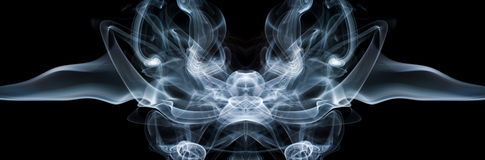 Isolated abstract smoke. Stock Images