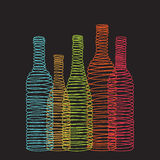 Isolated abstract spiral wine bottles Stock Images