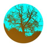 Isolated abstract tree icon, logo composition stock photography