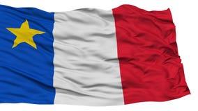 Isolated Acadia Madawaska City Flag, United States of America Royalty Free Stock Photo