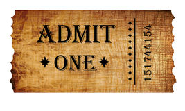 Isolated admit one ticket Royalty Free Stock Photo