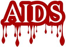 Isolated AIDS word dripping blood Royalty Free Stock Images