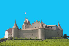 Isolated Aigle Castle, Switzerland Royalty Free Stock Photos