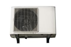 Isolated air conditioner Royalty Free Stock Images