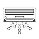 Isolated air conditioner machine design Stock Photos