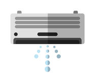 Isolated air conditioner machine design Royalty Free Stock Photography