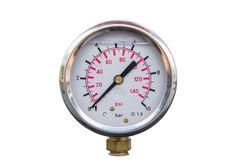 Isolated air pressure scale Stock Photos