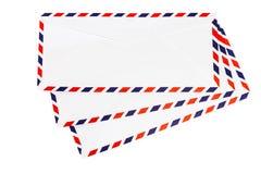 Isolated airmail envelope. On white background Royalty Free Stock Photo