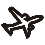 Isolated airplane outline. Isolated outline of an airplane, Vector illustration Stock Images