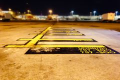 Isolated Airplane Parking Marking Terminals stock photography