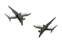 Isolated airplanes Royalty Free Stock Photo