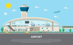 Isolated airport set, Security, control, gate and checking Stock Photo