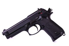 Isolated airsoft gun Stock Image