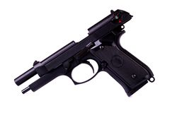 Isolated airsoft gun Royalty Free Stock Photo