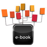 Isolated all in one electronic book stand scheme with icon Royalty Free Stock Photography