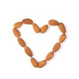 Isolated almond heart Stock Photo