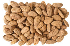 Isolated almonds Royalty Free Stock Photography