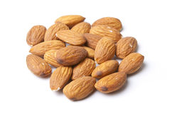 Isolated Almonds Stock Photography
