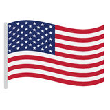 Isolated American flag. On a white background, Vector illustration Royalty Free Stock Photos