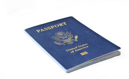 Isolated American passport stock image