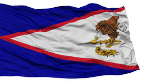 Isolated American Samoa Flag, USA state. Waving on White Background, High Resolution Stock Photos