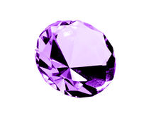 Isolated Amethyst Jewel Royalty Free Stock Photo