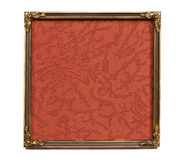 Isolated ancient brass frame with old background Royalty Free Stock Images