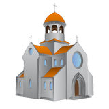 Isolated ancient roman basilica for catholics vector. Illustration Stock Photo