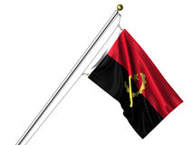 Isolated Angolan Flag Royalty Free Stock Images