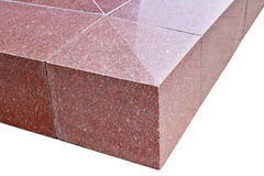 It is the isolated angular fragment of a granite corner Stock Photos