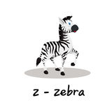 Isolated animal alphabet for the kids,Z for Zebra Stock Image