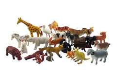 Isolated animals toys photo. Isolated wild and domestic animals toys photo stock image