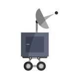 Isolated antenna design. Antenna icon. Broadcast internet technology and communication theme. Isolated design. Vector illustration Royalty Free Stock Photo