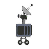 Isolated antenna design. Antenna icon. Broadcast internet technology and communication theme. Isolated design. Vector illustration Stock Photo