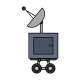 Isolated antenna design. Antenna icon. Broadcast internet technology and communication theme. Isolated design. Vector illustration Stock Images