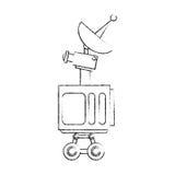 Isolated antenna design. Antenna icon. Broadcast internet technology and communication theme. Isolated design. Vector illustration Stock Image