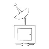 Isolated antenna design. Antenna icon. Broadcast internet technology and communication theme. Isolated design. Vector illustration Stock Photography
