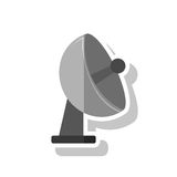 Isolated antenna design. Antenna icon. Signal broadcast internet and technology theme. Isolated design. Vector illustration Stock Images