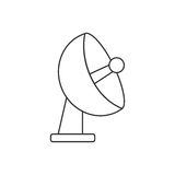 Isolated antenna design. Antenna icon. Signal broadcast internet and technology theme. Isolated design. Vector illustration Stock Photos