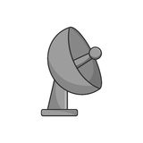 Isolated antenna design. Antenna icon. Signal broadcast internet and technology theme. Isolated design. Vector illustration Stock Photo