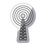 Isolated antenna signal device design Royalty Free Stock Images
