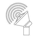 Isolated antenna signal device design Stock Image