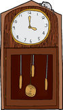 Isolated Antique Clock with Mouse Stock Image