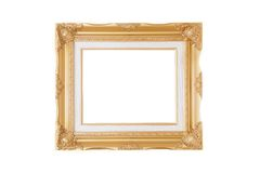 Isolated antique golden frame Stock Photography